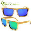 IVSTA Wooden Bamboo Sunglasses Male Sunglasses Wood Polarized Oversized Sunglasses Men Real Women Mirror Revo Nature big VB002