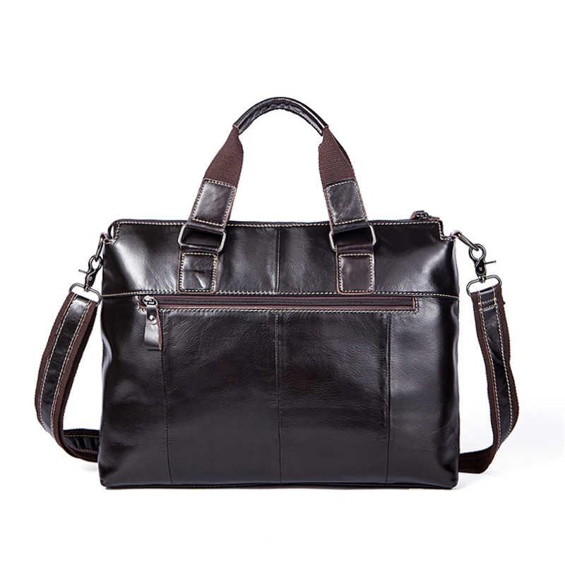 310a2933fb52 ... MVA кожаная сумка для ноутбука 14 inch натуральная кожа сумки на плечо  Бизнес Портфели Сумки тотализаторов ...