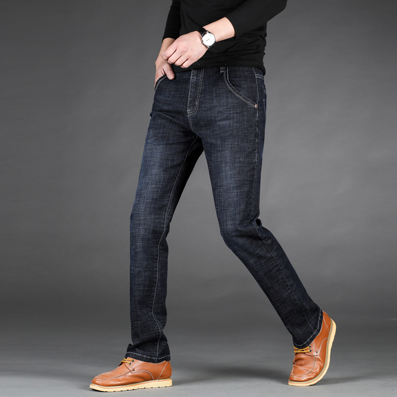 2018 Spring New Slim Jeans Casual Cotton Stretch Jean Male Slim Fit High-quality Jeans Homme Dropshipping