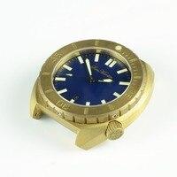 San Martin Men Mechanical Brass Automatic Watch Sapphire glass 50ATM Brass Bezel Buckle Rubber Starp Vintage Diving Wristwatch