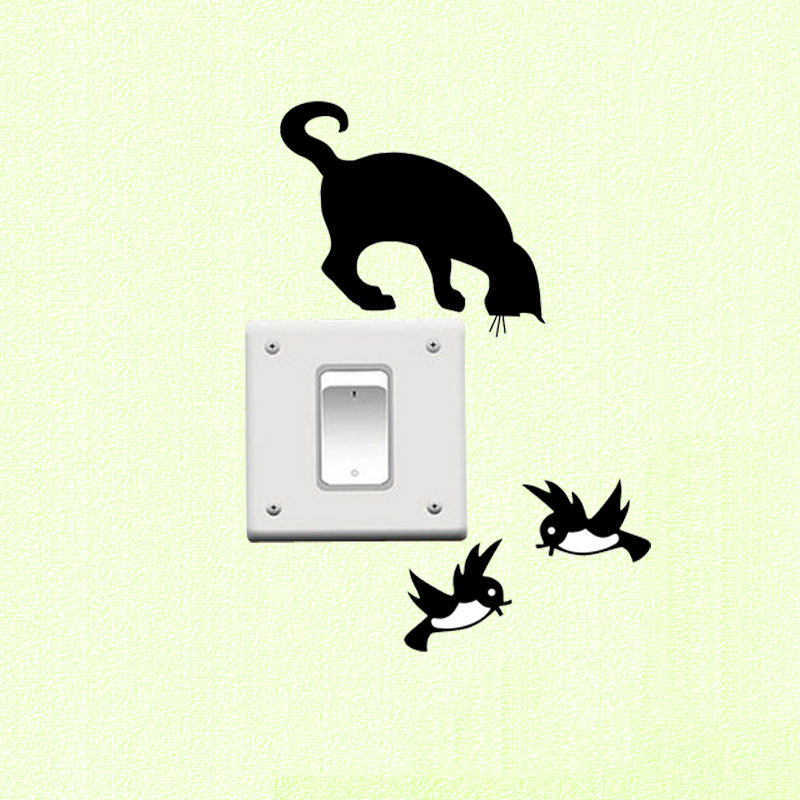 Toma de Interruptor de la luz Etiqueta de La Pared de Vinilo Decoración Para El
