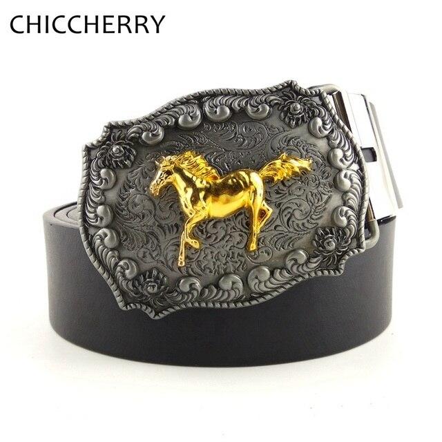 Nueva moda Western cowboy cowgirl pu cinturones de cuero negro 130 cm con  retro hebilla grande. Sitúa el cursor encima para ... 833dd2cc0063