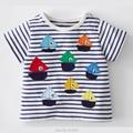 Novo 2017 Da Marca 100% Algodão Bebê Roupas Meninos Criança Crianças crianças Roupas de Verão T-shirt t-shirt de Manga Curta t Shirt Meninos blusa