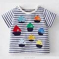 Nuevo 2017 Marca 100% Algodón de Los Bebés Ropa Del Niño de Los Niños los niños Ropa de Verano Tees Camiseta de Manga Corta t Camisa de Los Niños blusa