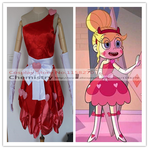Star Vs the Forces of Evil Star Butterfly Dress Cosplay Costume custom made