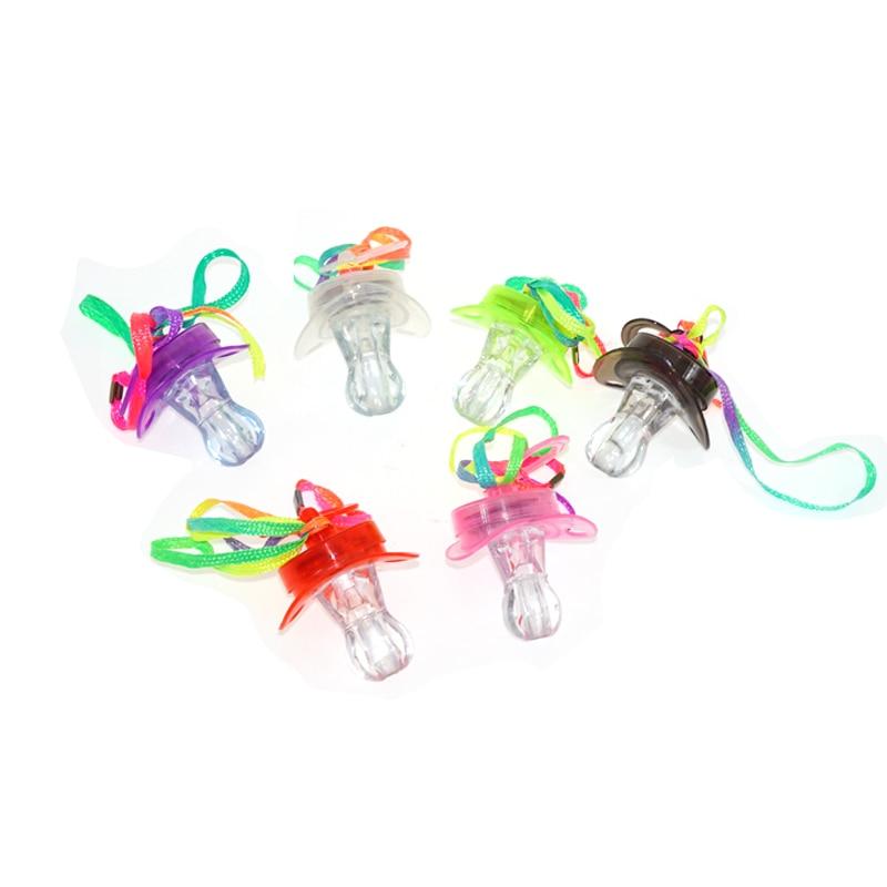 20pcs / lot condus fluier lumina de jucării pentru copii luminos mamelon fluier partid concert încălzirea recuzită noutate stralucitoare fluier jucărie