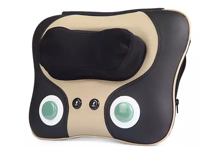 Cervical spine massager massage neck shoulder waist pillow cushion for leaning on of jade ochre warm massage whole body massage amkee cervical vertebra massager cushion neck waist back shoulder massage pillow multifunction health care cushion relaxation