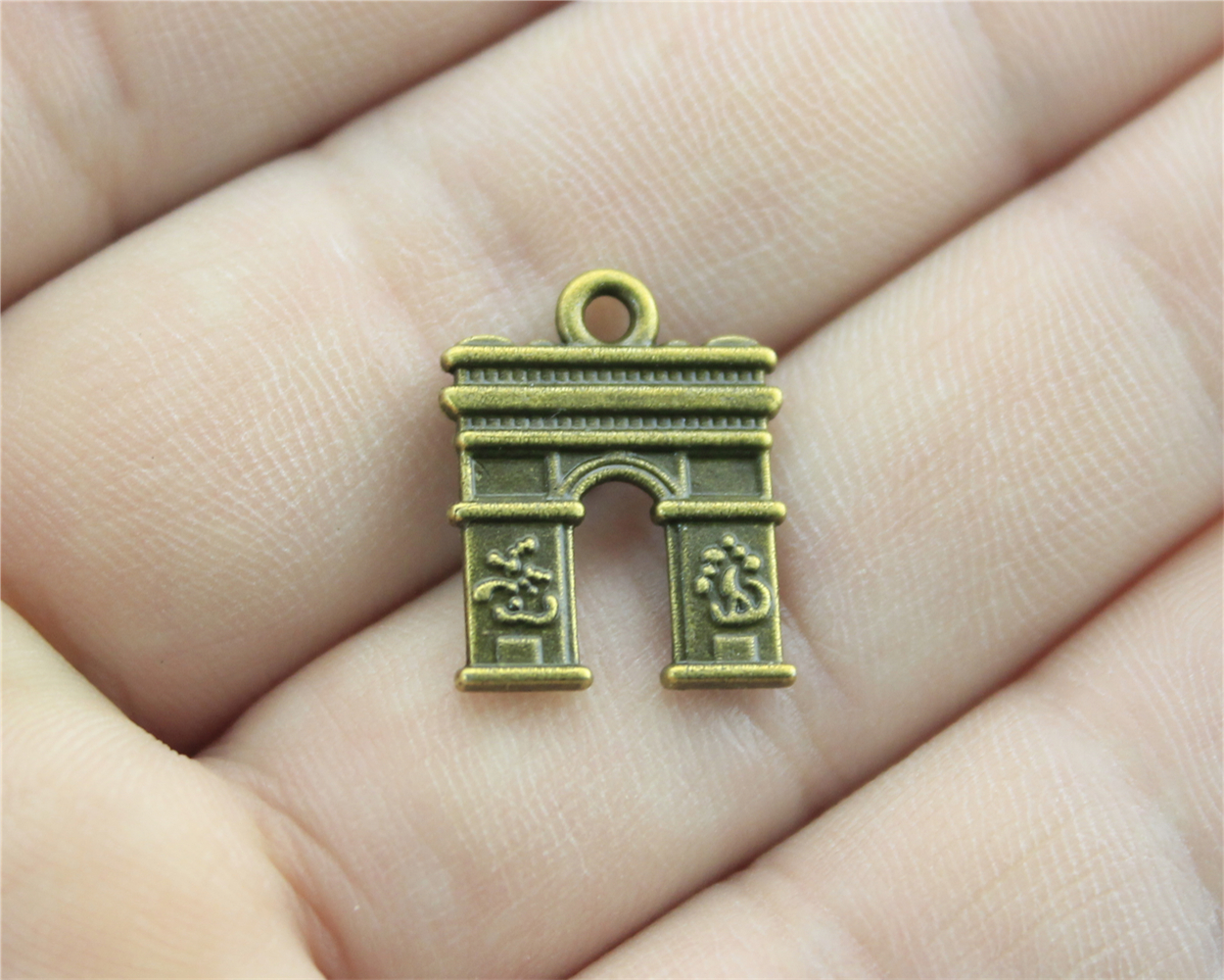 20pcs 18*15mm Antique Bronze Color Door Charms For DIY Handmade  Jewelry(China)