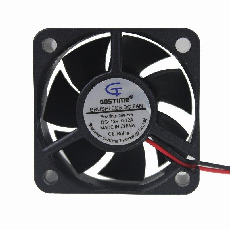 Gdstime 5pcs 5020 DC 12V 2Pin 7 Blades 50x50x20mm Heatsink Cooling Fan 50mm x 20mm 5cm 1.97 inch For PC Chip CPU