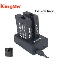 Original Kingma Action Camera Battery 2pcs 2620mah Dual Charger For Gopro Fusion