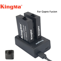 Original Kingma Action Camera Battery 2pcs 2620mah Dual Charger For Gopro Fusion