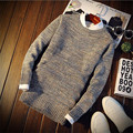 Nueva Moda Otoño Invierno Hombre Suéter Masculino O-cuello Suéteres Slim Fit Knitting Suéteres Para Hombre Hombre Suéter Homme Tirón Puls Tamaño