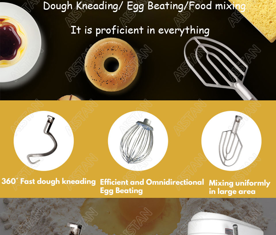 B20A/B30A commercial electric 20L/30L food mixer planetary mixer dough mixer machine for dough kneading/ egg beating/food mixing 5