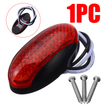 For Car Truck Trailer Lorry 1Pcs Red 4LED Side Marker Indicator Light 12V/24V Waterproof Mayitr