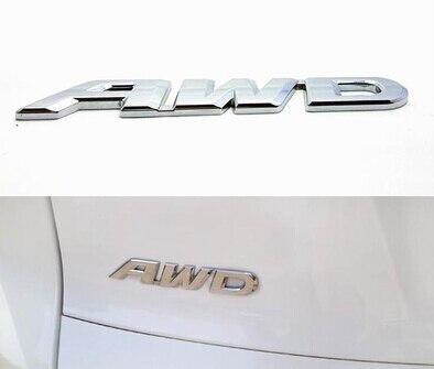 YAQUICKA Metal 3D Auto Car AWD Emblem Badge Decal Sticker For Honda CRV Accord Crosstou Car styling Exterior Accessories