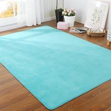 160x200cm 11 Color Faux rabbit Fabric Anti-slip Mat Thick Floor Carpets for Living Room Plain Bathroom Rug Cuatom Size