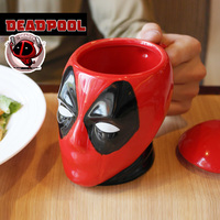 Super Hero Anime Deadpool Large Capacity Coffee Mug Creativity Cartoon 3D Modeling Porcelain Drinking Cup Boyfriend Gift Caneca