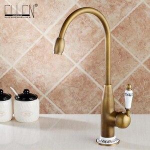 Image 1 - Keuken Kranen Antiek Brons Kraan voor Keuken Mengkraan Met Keramische Kraan Koud En Warm Aanrecht Tap Water Mixers 7513