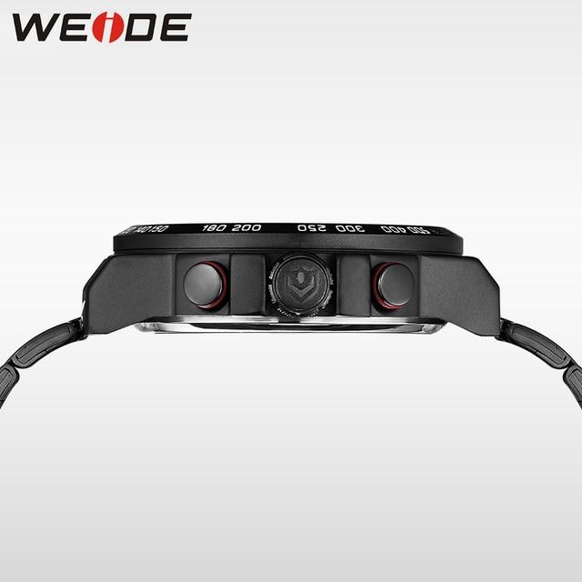 Mens Watches WEIDE Luxury Brand Steel Quartz Clock Men Digital LED Watch Army Military Sport Watch Male relogio masculino 2017