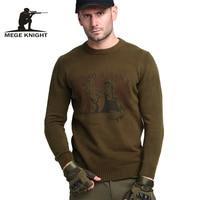 סוודרים סתיו בגדי גברים מותג מזדמן צבא הצבאי Mege זכר סוודרים סוודרים סרוגים עבור גברים כותנה בסגנון למשוך Homme
