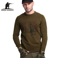 Mege Brand Clothing Autumn Men S Sweaters Military Army Casual Style Cotton Knitted Sweaters For Men