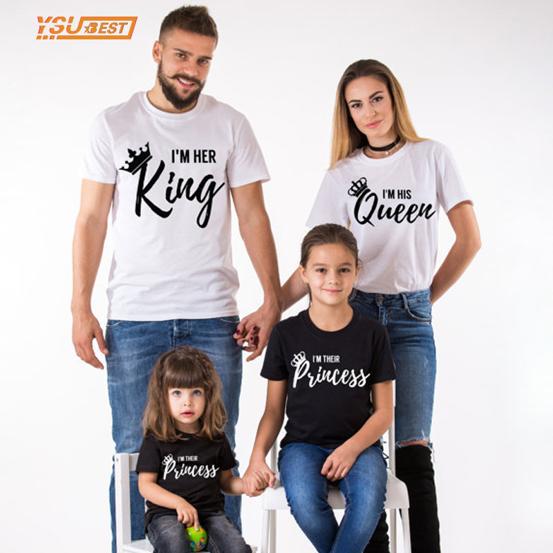 Louisiana Family Vacation Ideas: King Queen Couples T Shirt Crown Printed Funny Tops 2017