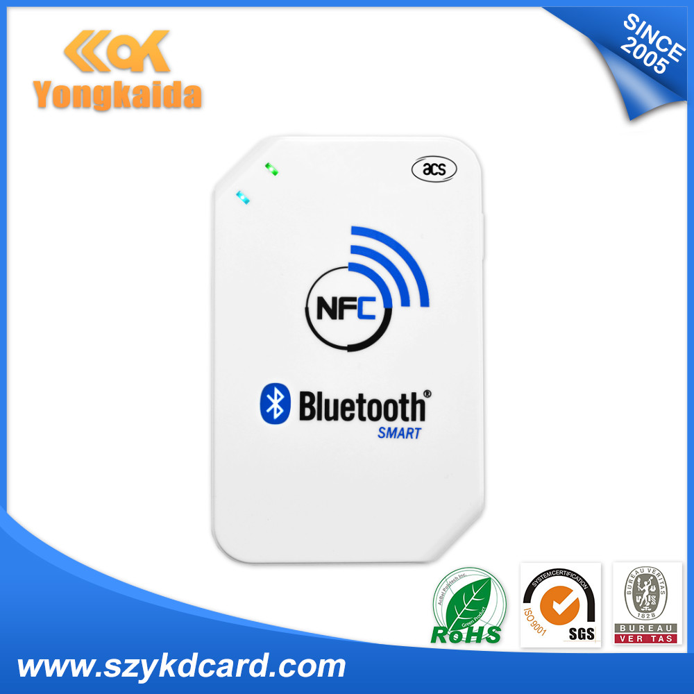 YongKaiDa Android 3.1 and above NFC reader writer 13.56mhz rfid ACR1255U-J1 writer reader yongkaida 13 56mhz acr1255u j1 iso18092 nfcip 1 compliant with bluetooth usb nfc card reader writer