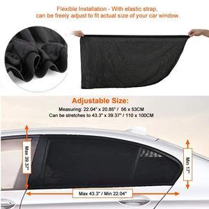 Image 2 - 2 упак. Солнцезащитный козырек от солнца для автомобиля, защита от ультрафиолета, занавес для окна автомобиля, солнцезащитный козырек, летняя Защитная пленка для окна