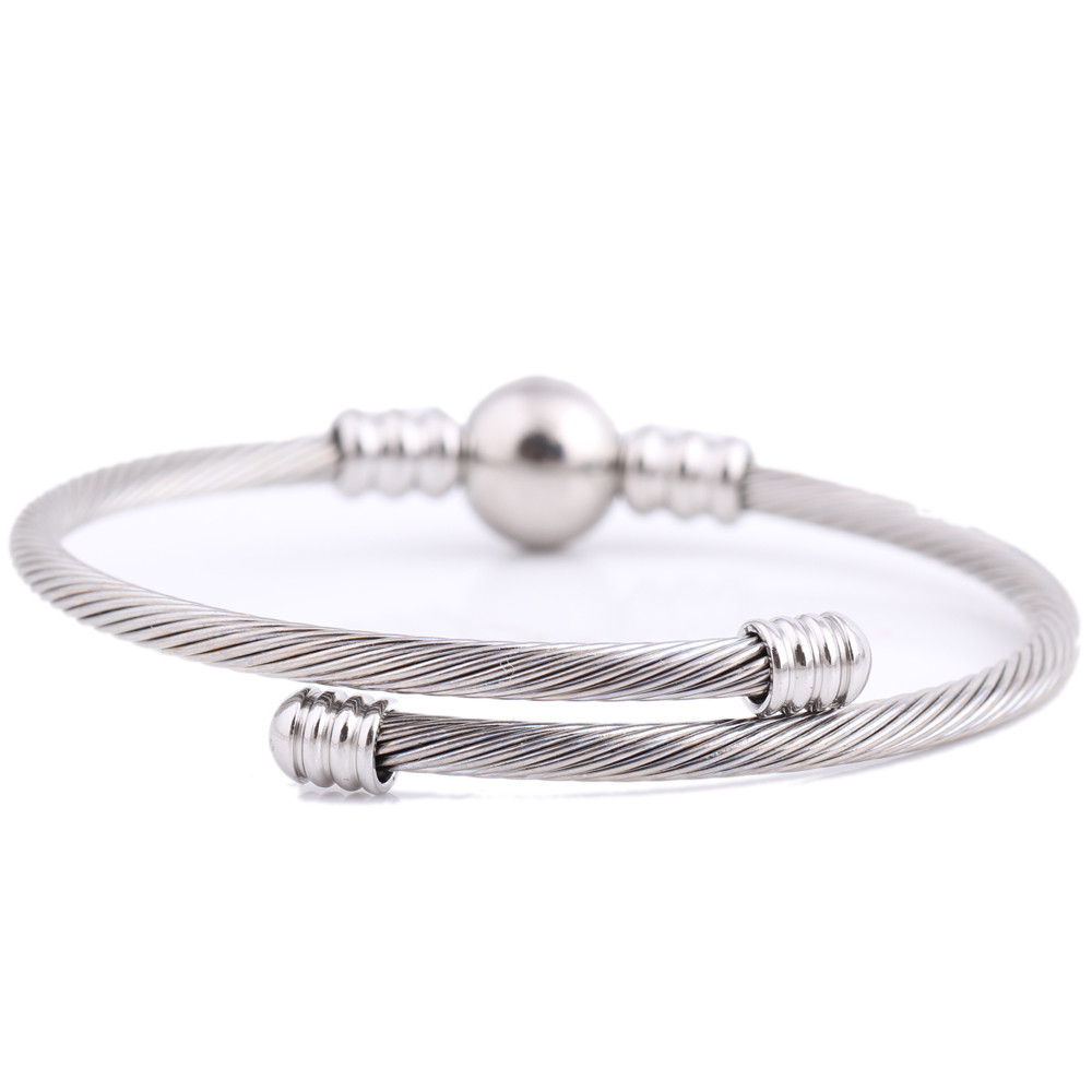 Cable Mesh Bangles Fashion Stainless Steel Jewelry Bracelets & Bangles For Women
