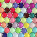 10mm Mixed Style Colorful Round Glass Cabochon Dome Jewelry Finding Cameo Pendant Settings 50pcs/lot (K02795)