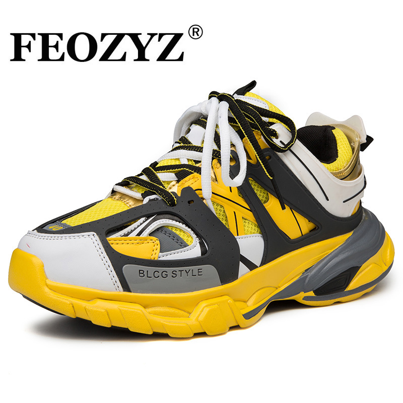 50% price buying cheap buying now FEOZYZ New Designer Running Shoes Men Breathable Chunky Sneakers ...