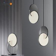 Simple design Cross shape LED Pendant Light Modern Bar Restaurant high glossy stainless steel Pendant Lamp