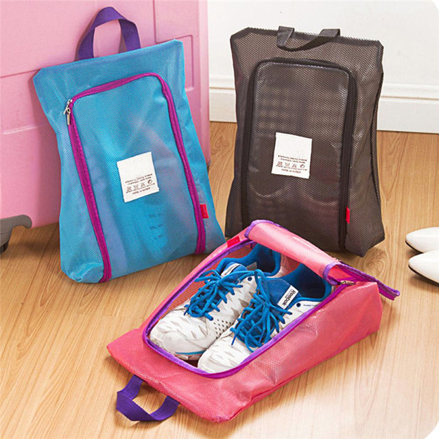 Hot Promotion Waterproof Uni Bag Travel Folding Handbag Shoes Storage Organizer Basket Case Accessories Free