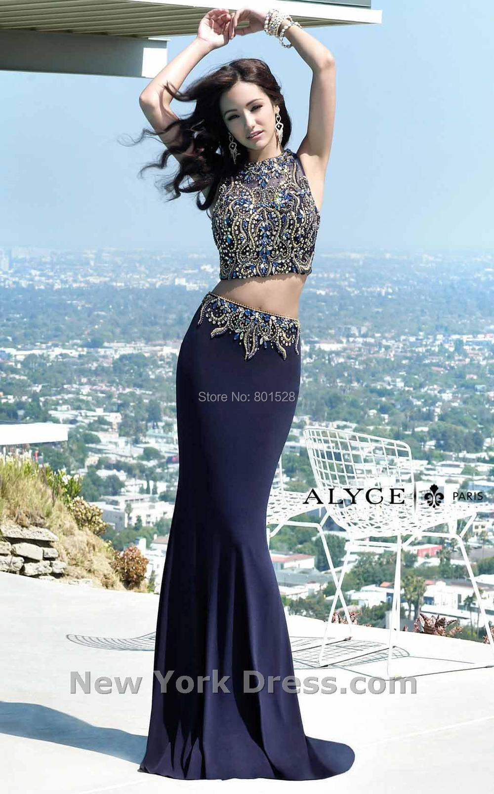Online Buy Wholesale navy blue prom dress from China navy blue ...