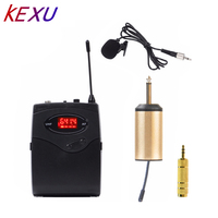 KEXU Wireless Microphone System,Wireless Microphone set with Headset & Lavalier Lapel Mics Beltpack Transmitter&Receiver Ideal