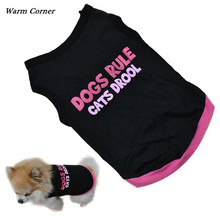 Heat Nook LM 2016 Summer time Small Canine Cat Pet Garments T Shirt Attire Garments Canine Rule Vest Free Delivery Sept 1