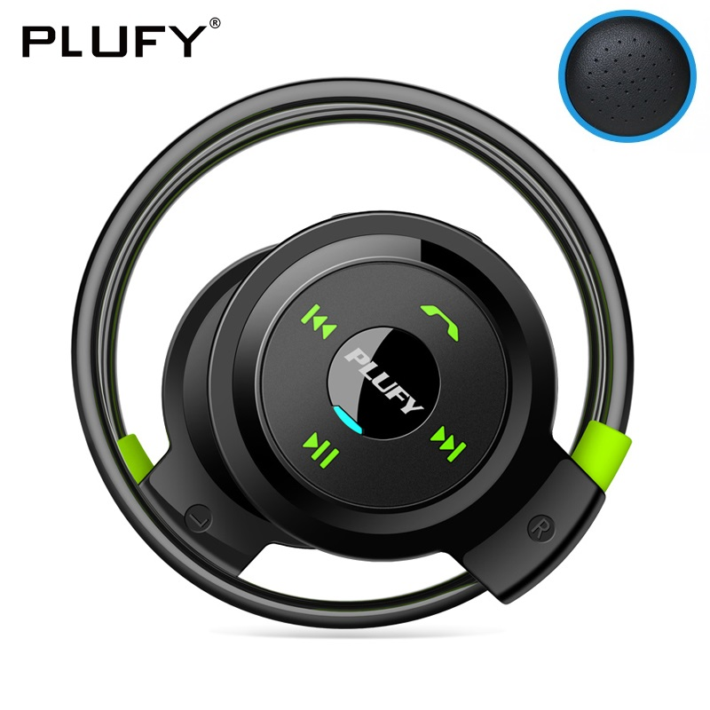 PLUFY Sports Bluetooth Headset CSR4 1 Neckband Wireless Headphones APT X Stereo Earphones With Mic Skin