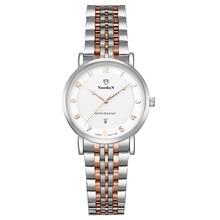 Мода Дамы Luxury Brand Кварцевые Часы Женщины Простой Наручные Часы Из Нержавеющей Стали Водонепроницаемый Relogio Feminino Подарков Montre Femme
