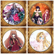 Anime Tate No Yuusha Nariagari Display Badge Japanese Cartoon Figure Raphtalia Fillo Brooches Pin Bag Decoration Collection