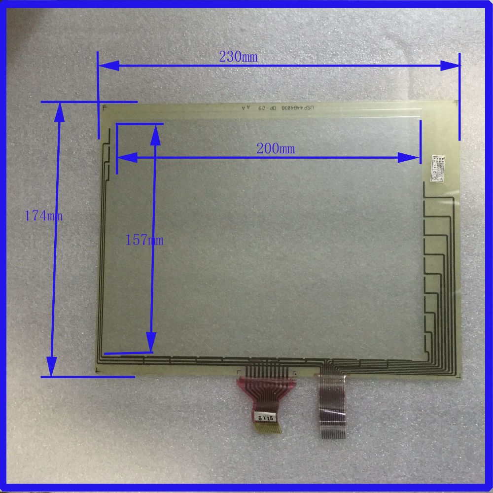 USP4484038 0P-29  9.7 inch Touch Screen panels  POST  resistive touch panel  For industry applications  glass touch new usp 4484038 0p 29 8 4 inch touch screen post 8 4 inch resistive touch panel for industry applications
