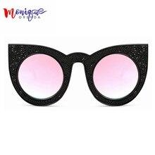 2017 солнцезащитные очки женщины марка дизайнер Негабаритных Cat eye Солнцезащитные Очки Роскошный Горный Хрусталь Солнцезащитные Очки Ретро Солнцезащитные Очки Женщины UV400