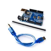 10 шт./лот UNO R3 MEGA328P CH340 CH340G для Arduino UNO R3 + USB кабель