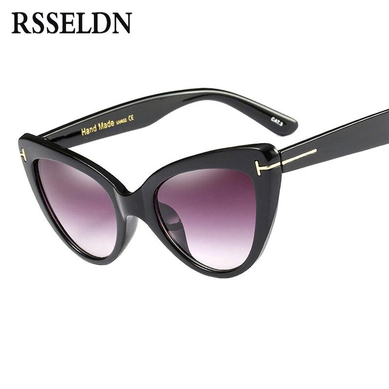 RSSELDN Cat Eye Fashion Sunglasses Women Brand Designer 2018 Gradient Sunglass Female Lady Sun Glasses For Women Oculos Feminino