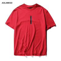 Aolamegs Men T Shirt Simple Style Summer Short Sleeve T Shirt 2017 Fashion Casual Male Tops