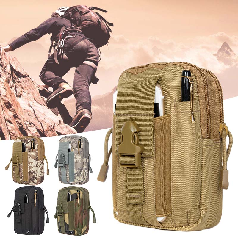 Men Tactical Molle Pouch Belt Waist Pack Bag Small Pocket Military Waist Pack Running Pouch Travel Camping Bags Outdoor Tool(China)