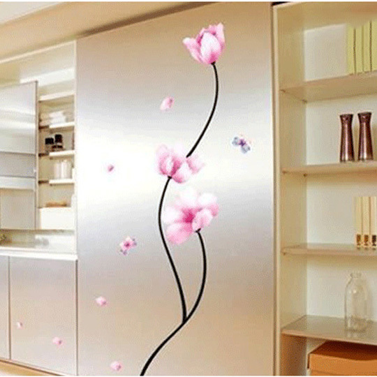Pink Flower Wall Stickers Living Room Bedroom TV Background Hangings DIY  Decals Wallpaper Sticker Decoration WHD011 High Quality In Wall Stickers  From Home ... Part 85