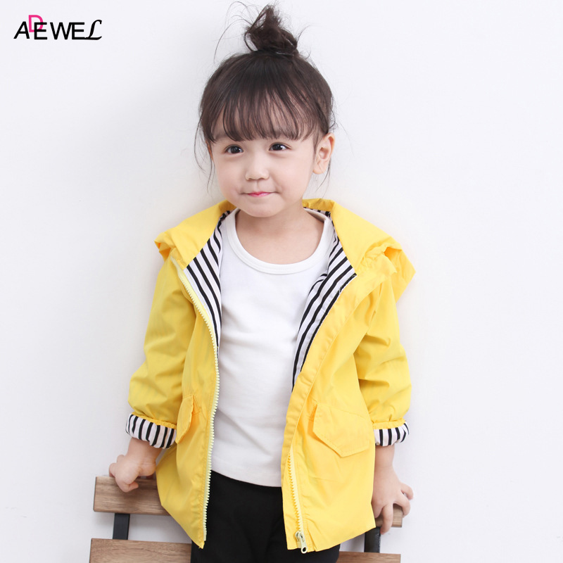 1 2 3 4 5 Year Baby Kids Coat 2018 New Spring Autumn Windproof Children Outerwear Clothing Cute Yellow Hooded Boys Girls Jackets kids jackets for girls spring autumn style toddlers children clothing solid casual 2 3 4 5 6 7 8 year girls coat gray navy