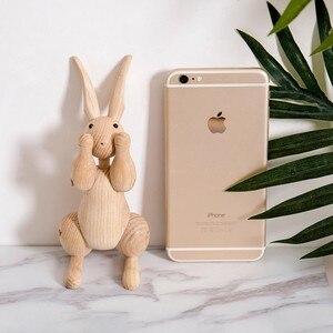 Image 2 - ファッション木製の装飾品ウサギの置物ノルディック装飾ホームかわいい動物工芸品