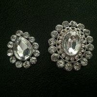 Alloy crystal oval shap beads 20 pcs/lot
