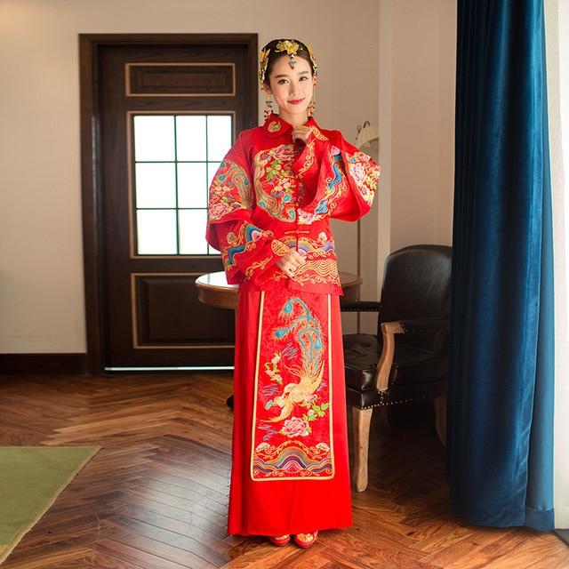 Aliexpress.com: Comprar Rojo Chino Tradicional vestido de Novia ...
